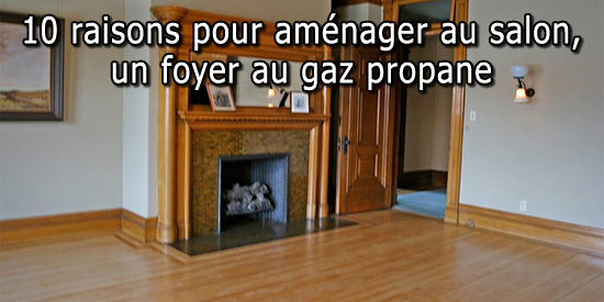 Foyer au gaz au salon